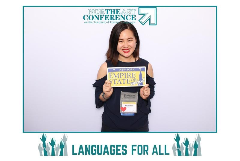 Photo of WHS mandarin teacher Kim OuYang at NE Conference on World Languages.