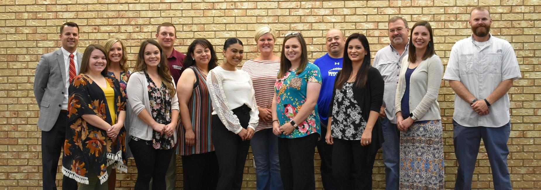 New members of staff for the 2019-2020 school year.