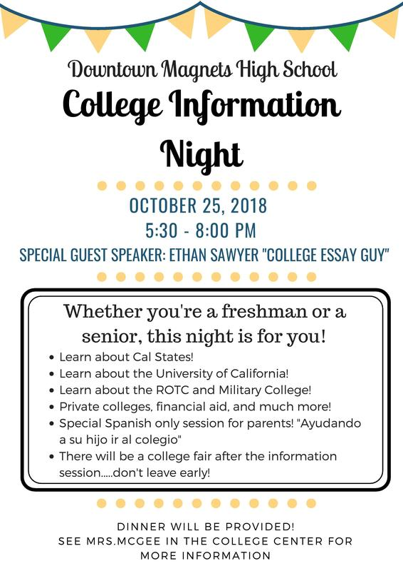COLLEGE INFORMATION NIGHT 2018 Featured Photo