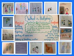 What is bullying? collage
