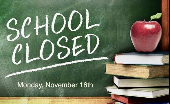 Picture of School Closed sign.