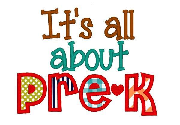 it is all about Pre-K graphic.
