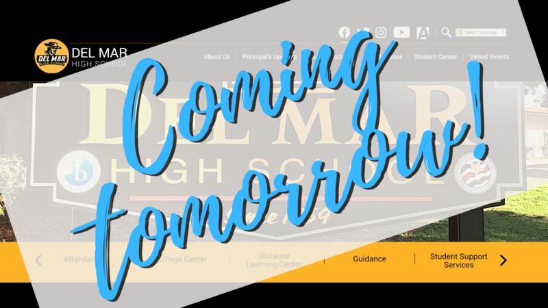 new homepage coming tomorrow