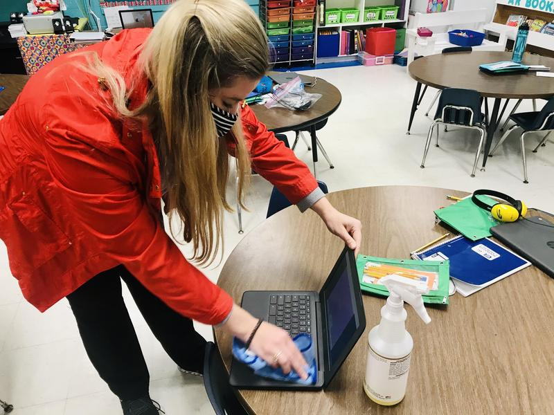 NEE classroom sanitization photo