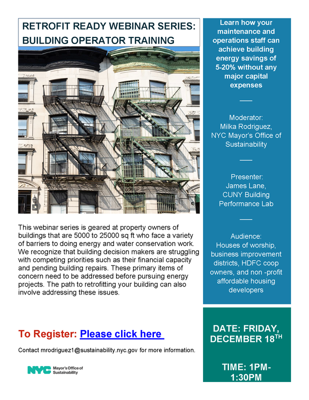 Retrofit Ready Webinar Series: Building Operator Training