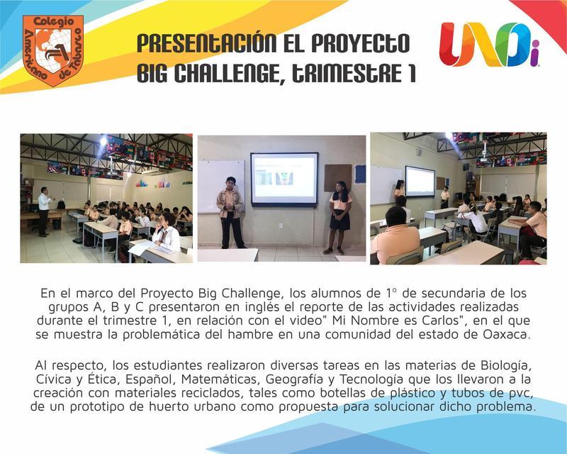 Secundaria presenta: Proyecto Big Challenge Featured Photo