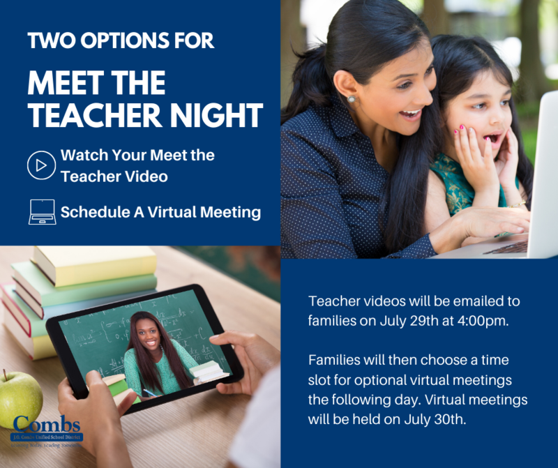 Virtual Meet the Teacher Night