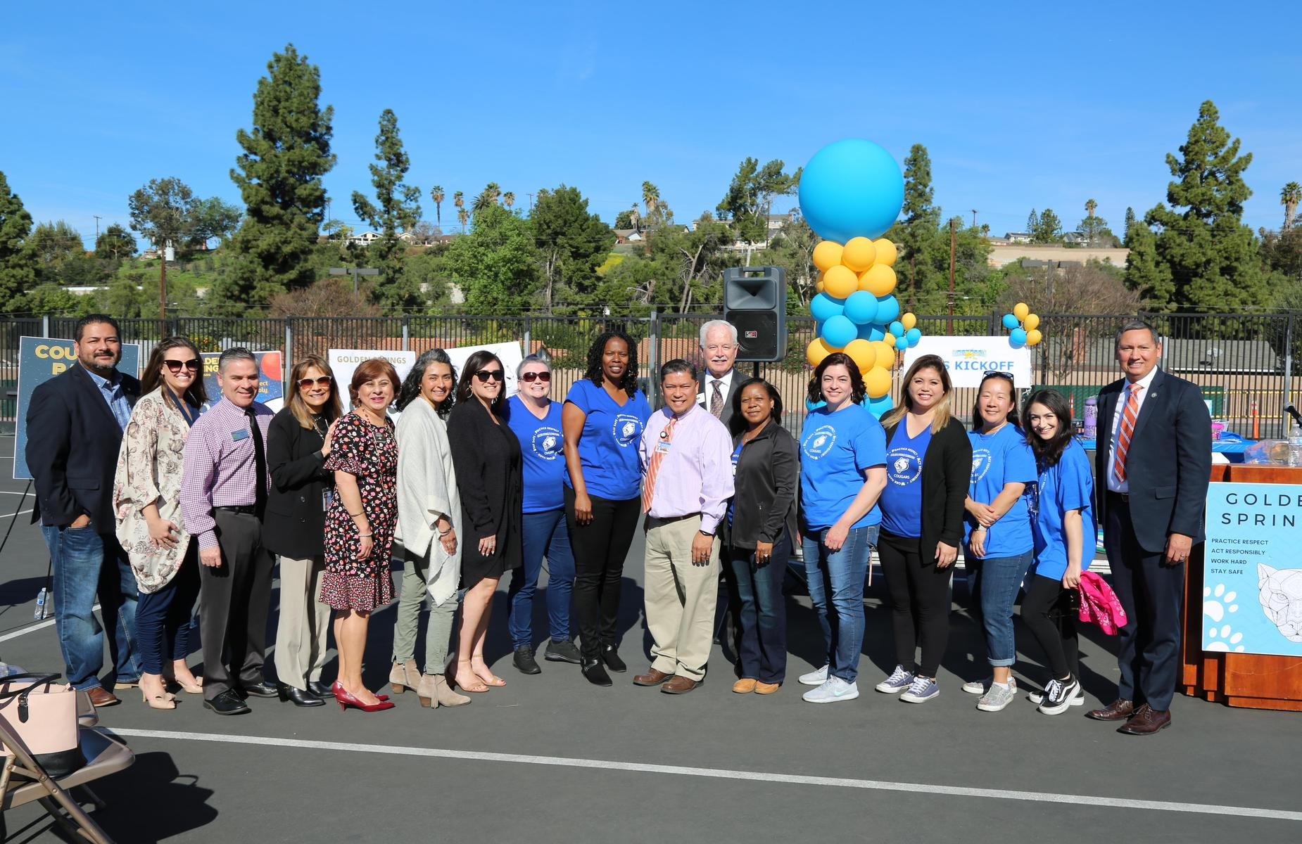 Congratulations on a great PBIS launch @GoldenSpringsPUSD Cougars! Thank you to our board members Frank Guzman, Dr. Roberta Perlman, the @CityOfPomona Mayor Tim Sandoval and @DiamondBarCity Mayor Steve Tye for joining our #PBIS LAUNCH! #proud2bepusd #PAWS #PBISinPUSD