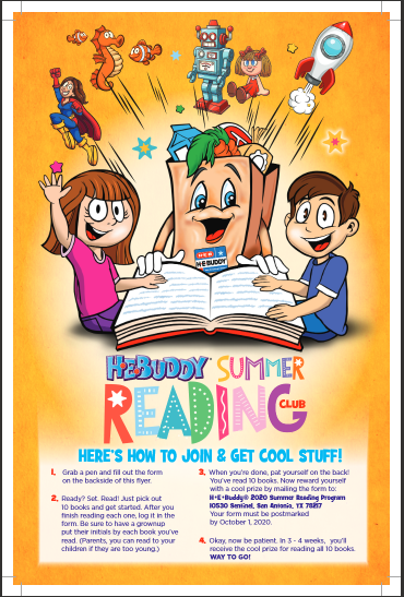 H-E-Buddy Summer Reading 2020 Featured Photo