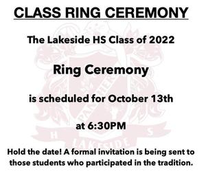 Ring Ceremony October 13
