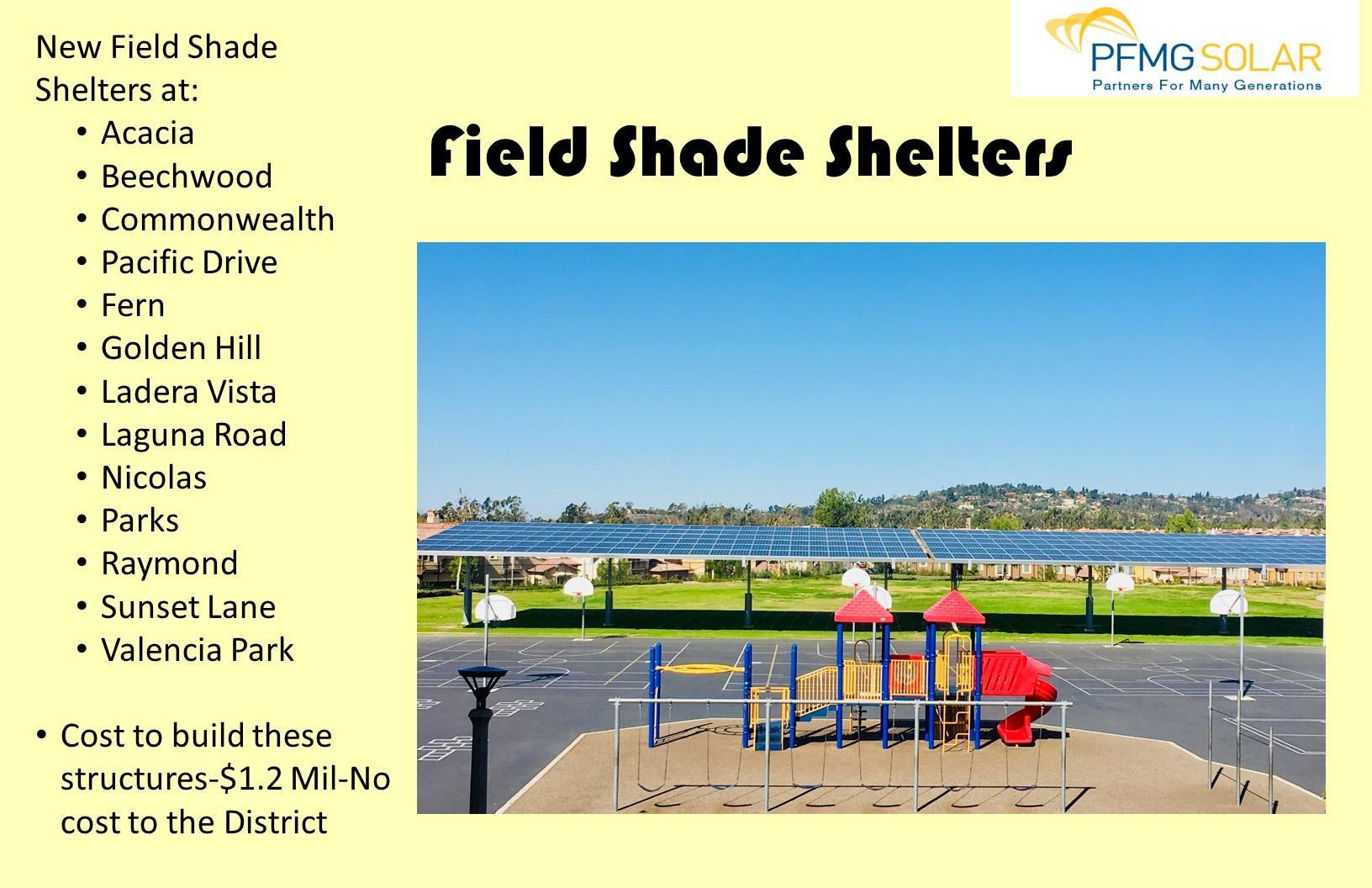 Field Shade Shelters