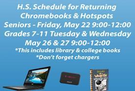 High School Schedule for Returning Devices Featured Photo