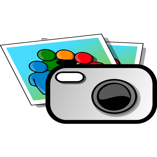 camera with a photo clipart