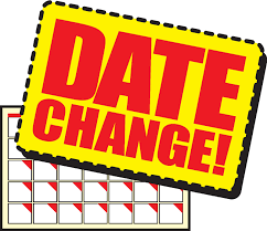 Clip art that says Date Change
