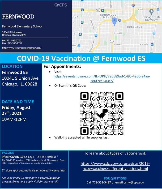 COVID VACCINATIONS @ FERNWOOD Thumbnail Image