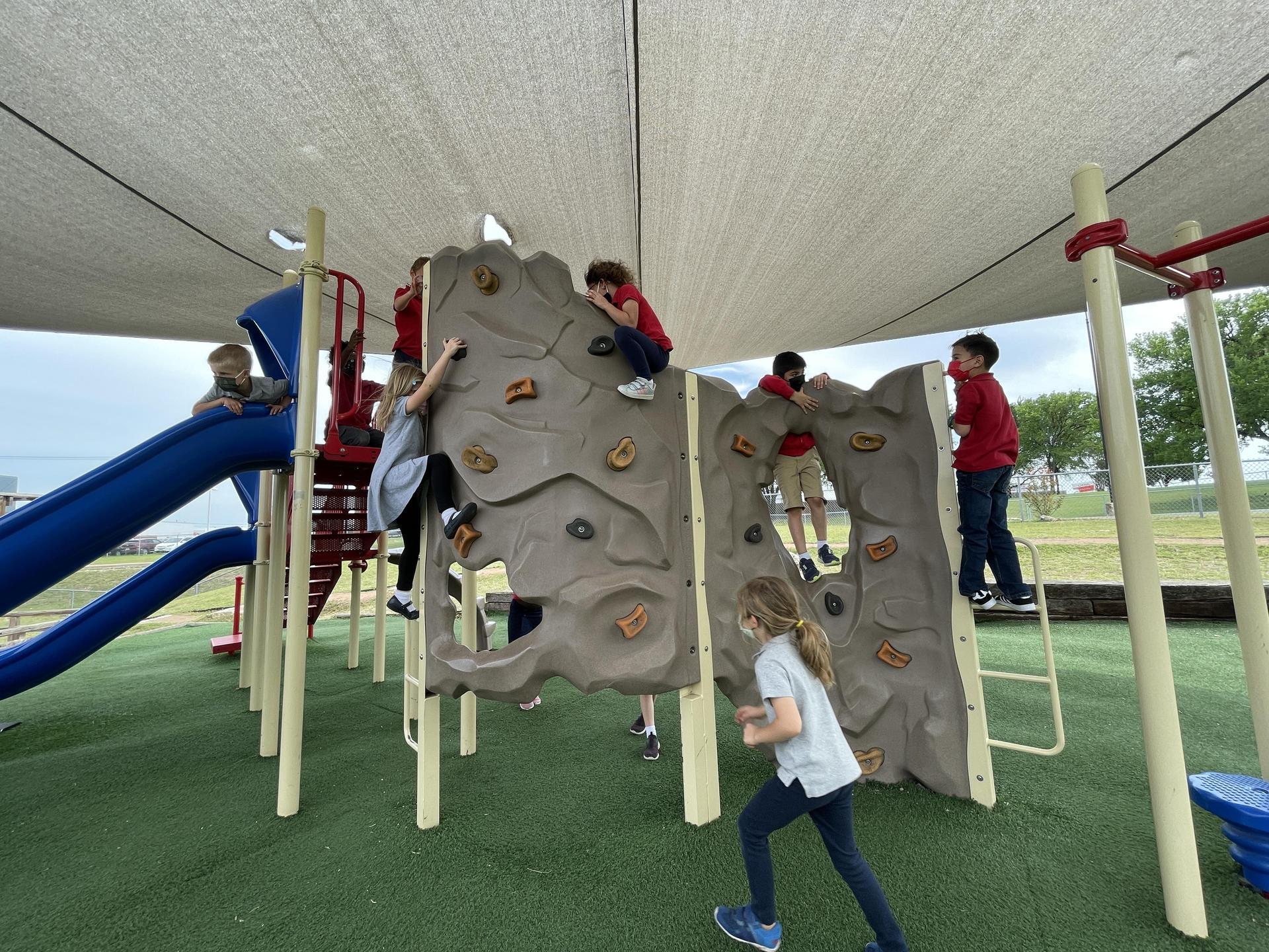 Playing on playground