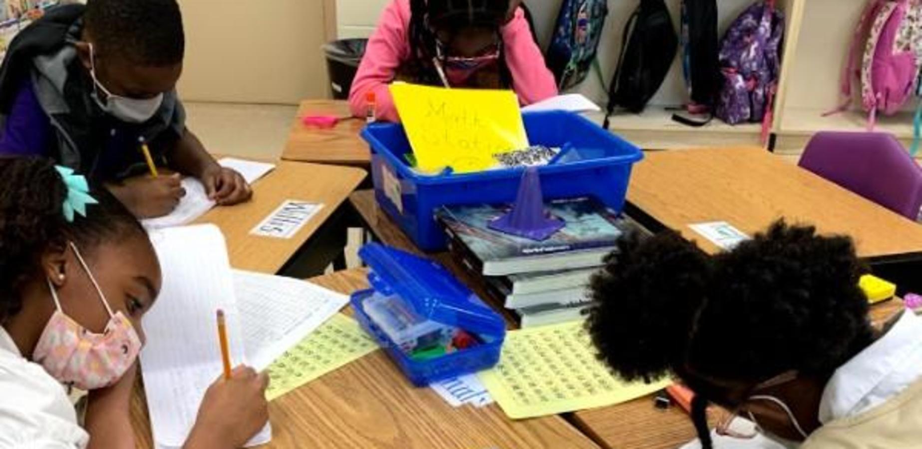 2nd graders writing