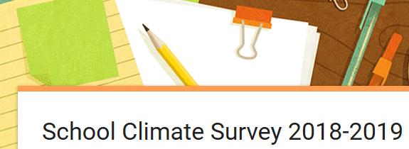 SCHOOL CLIMATE SURVEY 2018-2019 Featured Photo
