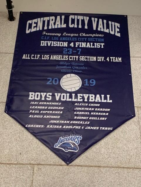 2019 Boys Volleyball Finalists Banner