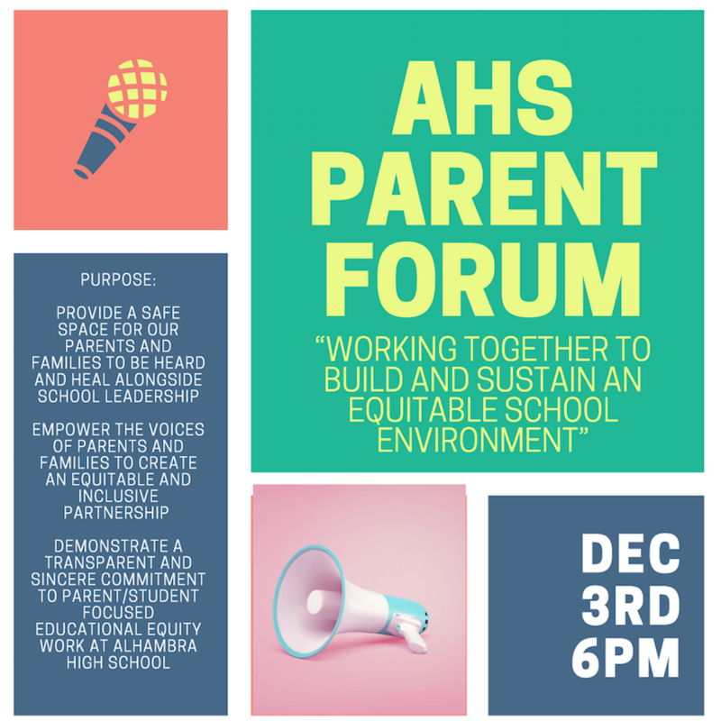 Alhambra High School Parent Forum on Equity Featured Photo