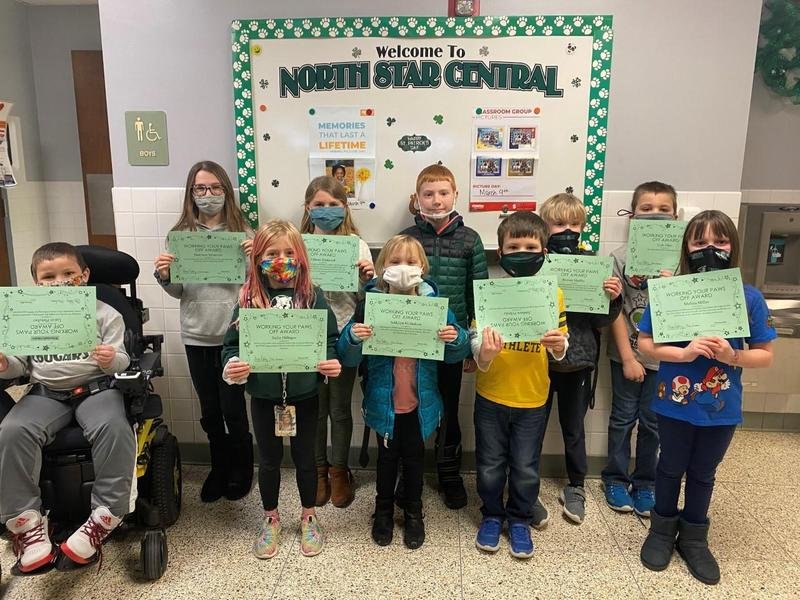 North Star Central Elementary Working Your PAWS Off (WYPO) Award Winners Featured Photo