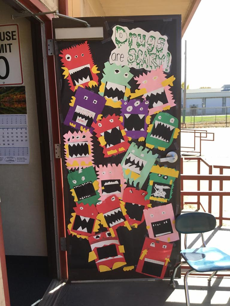 Red Ribbon Week Door Decorations