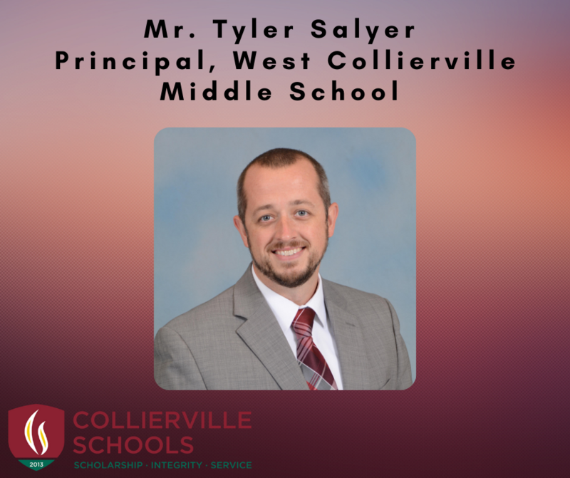 Salyer, Principal of West Collierville Middle School