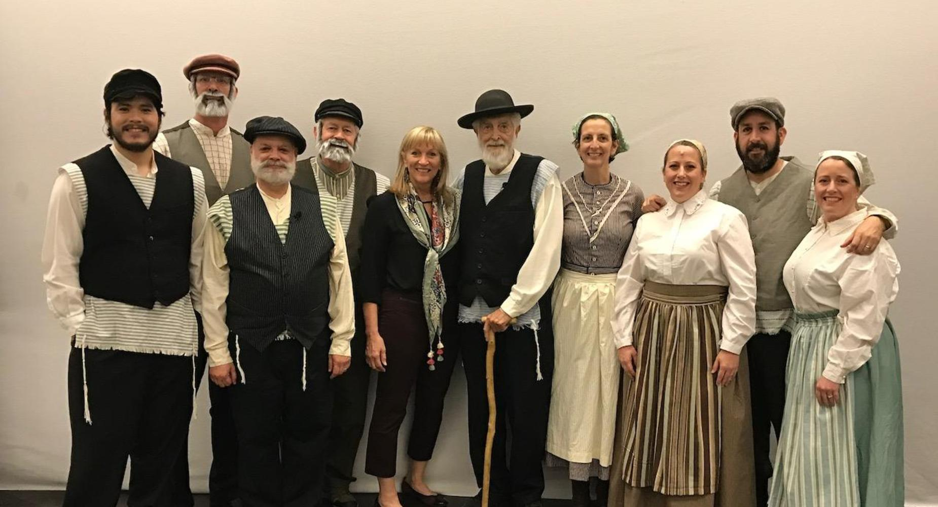 Staff members in Fiddler on the Roof