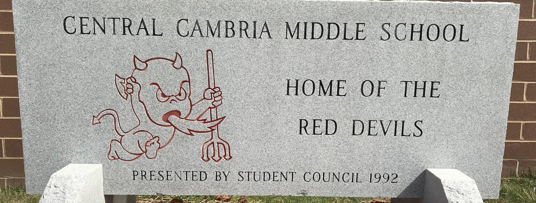 Central Cambria Middle School, Home of the Red Devils, Presented by Student Council 1992