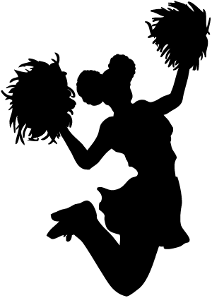 Shadow of a cheerleader