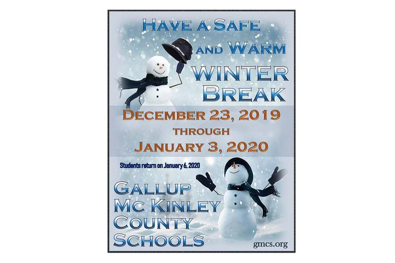 Winter break dates December 23-January 3