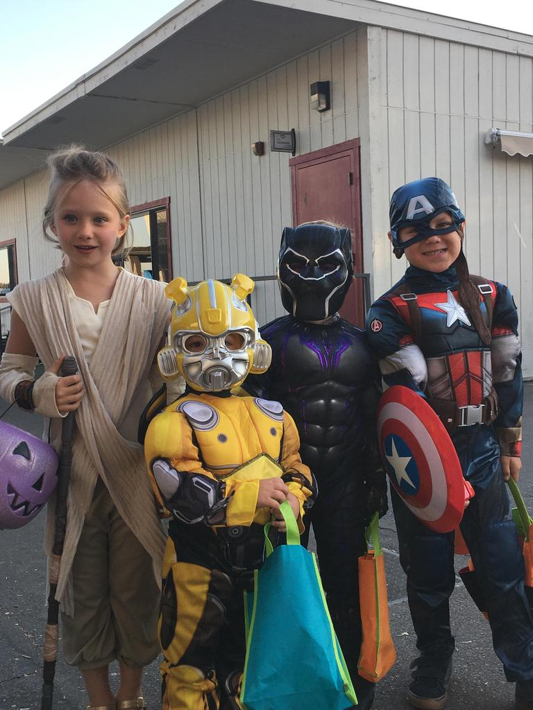 kids dressed up for halloween