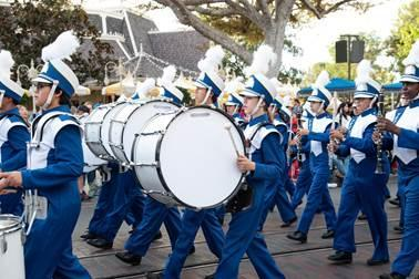 Our band performed at Disneyland