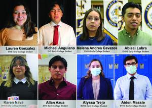 Edinburg Rotary Club honors the top students from Edinburg CISD's Early College High School Program.