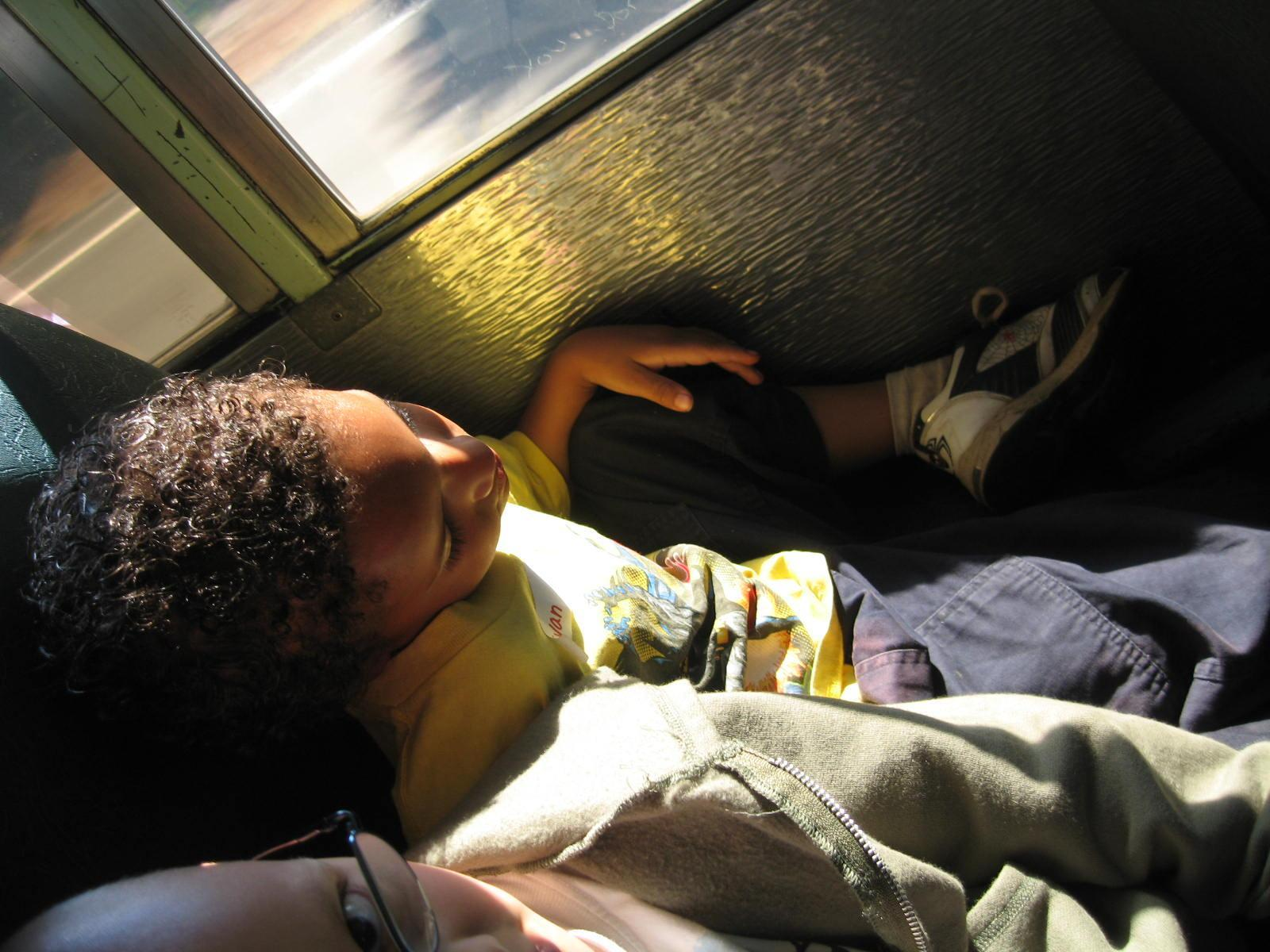 Student on the Bus