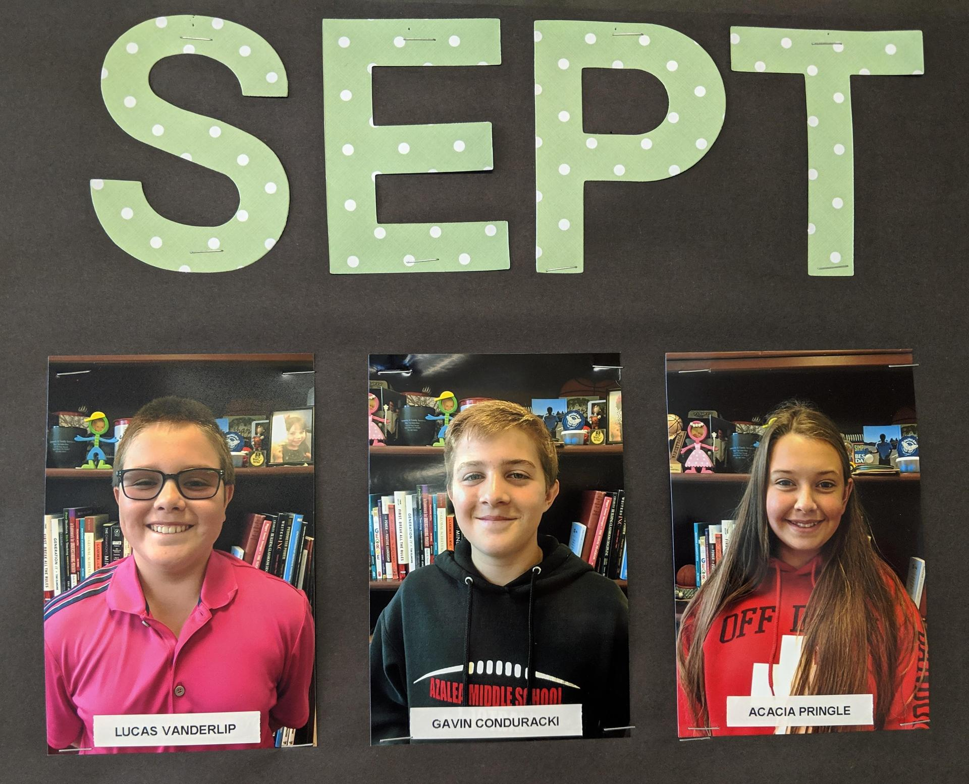 Sept students of the month
