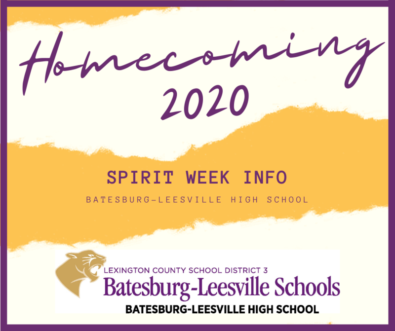 2020 Homecoming Week Spirit Day Information