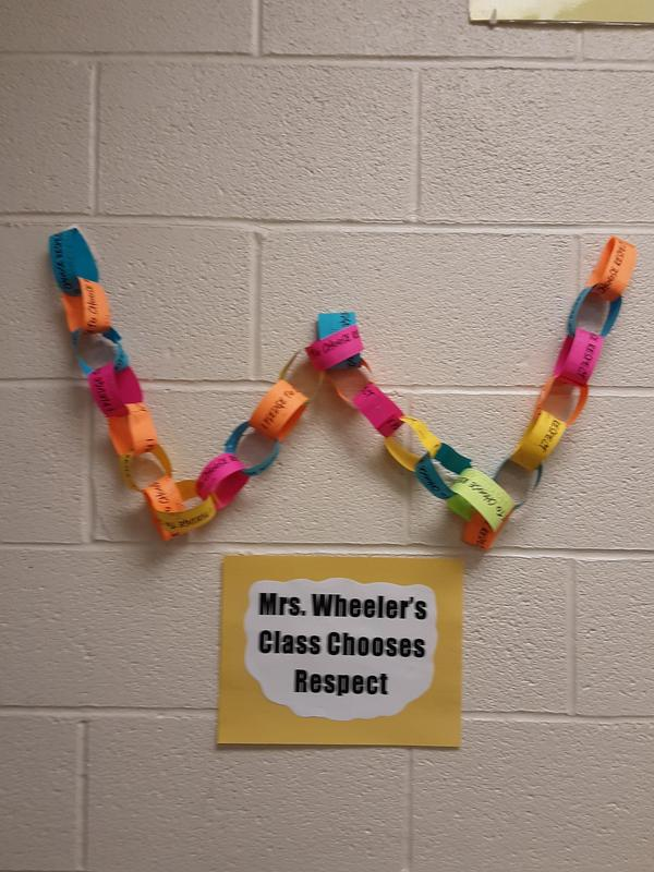Mrs. Wheeler's class anti-bullying project, a