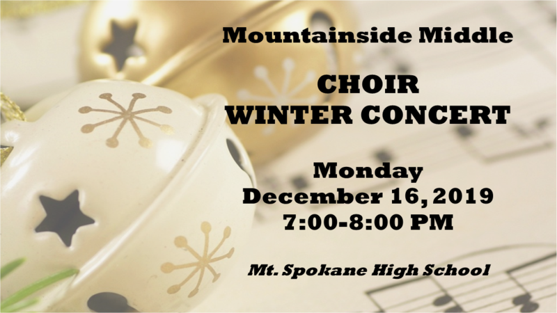 Choir Winter Concert flyer