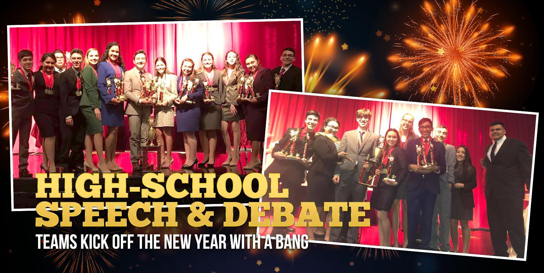 High-school Speech and Debate teams kick off the new year with a bang