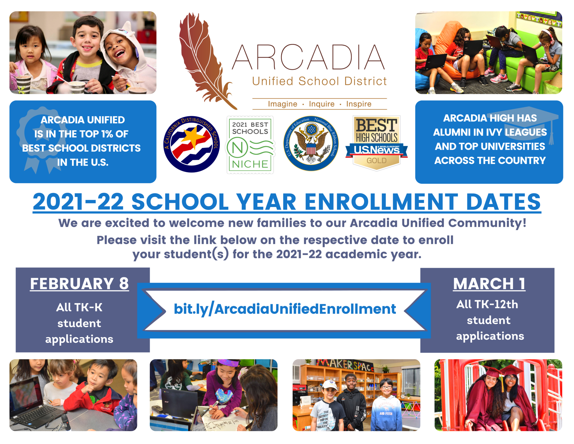2021-22 AUSD Student Enrollment Graphic