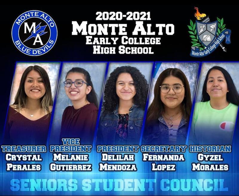 2020-2021 Monte Alto ECHS Student Council: Senior Class Featured Photo