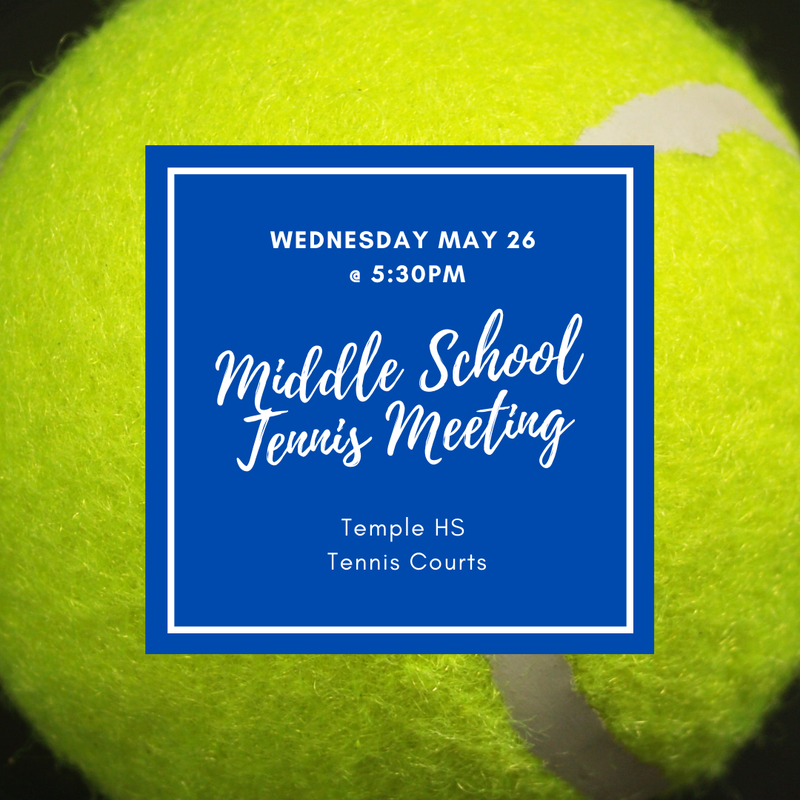 Middle School Tennis Informational Meeting on May 26 Featured Photo