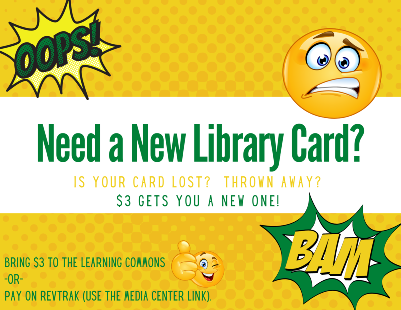 Need a New Library/Lunch Card? Featured Photo