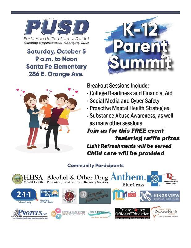 PDF English Flyer of PUSD Parent Summit