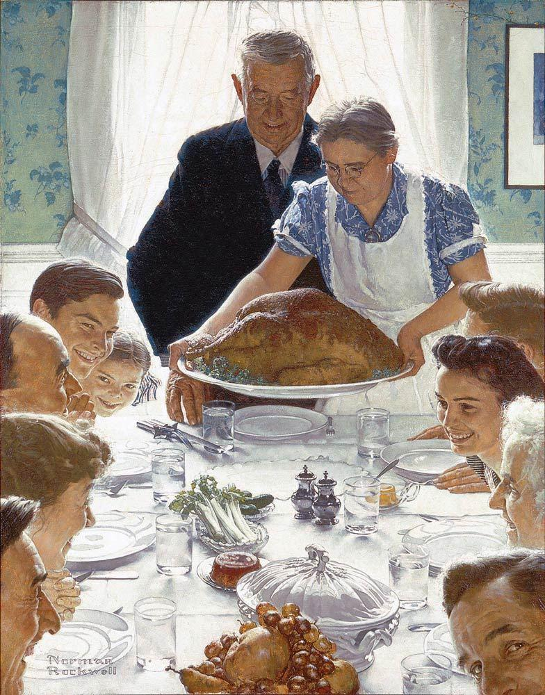 'Freedom from want' by: Norman Rockwell 1943