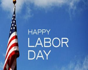 LABOR DAY WITH AMERICAN FLAG