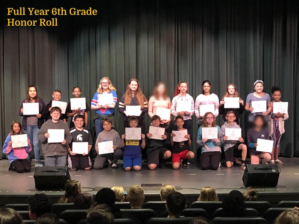 FY 6th Grade Honor Roll