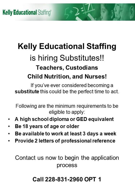 Kelly Educational Staffing flier