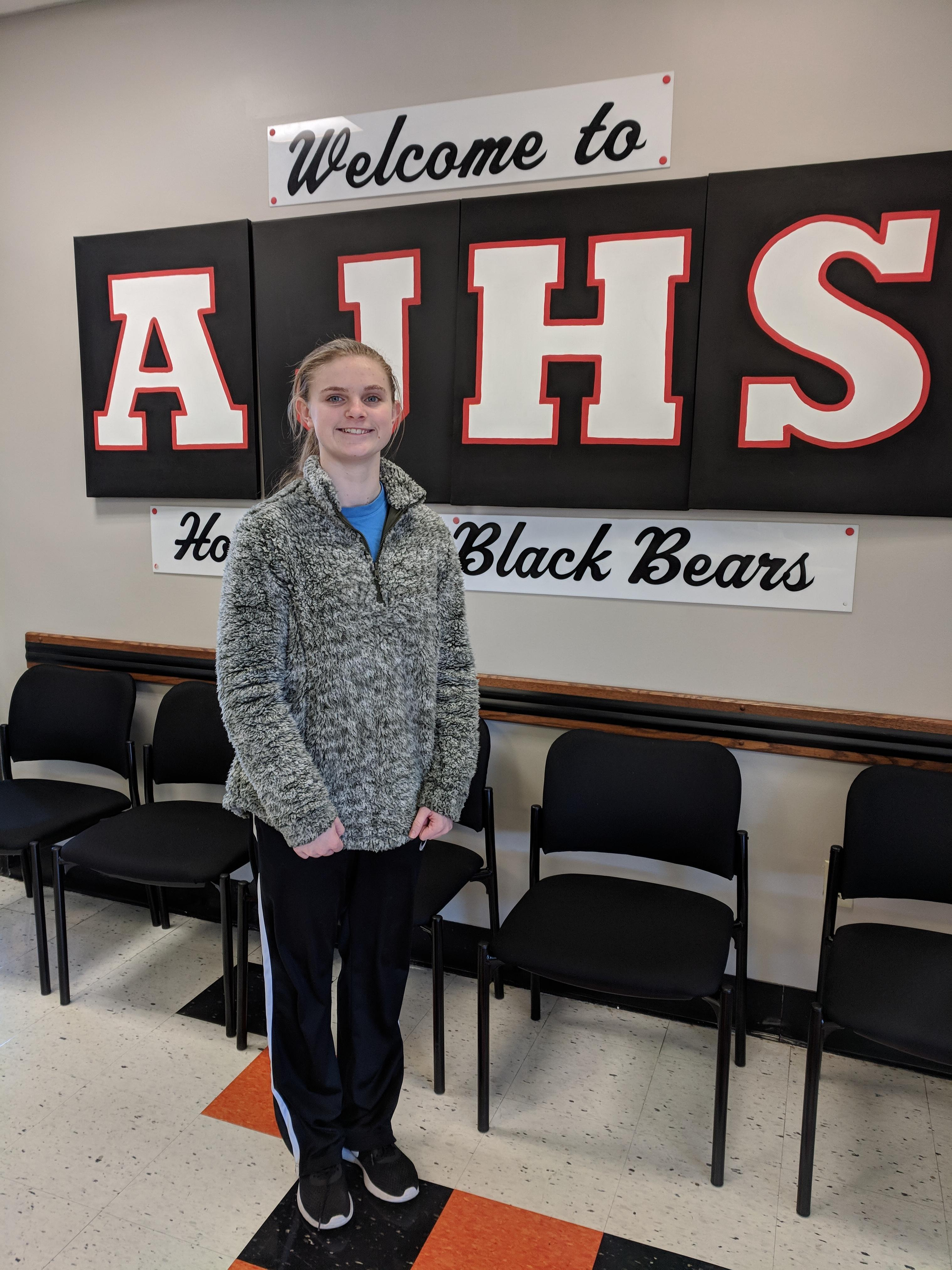 Student of the month Olivia Lyles